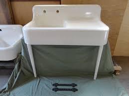 Antique Drainboard Cast Iron Farm Farmhouse Kitchen Sink With Legs - Kitchen sink on legs