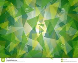 Green Shades by Abstract Layered Green Triangle Pattern With Bright Center