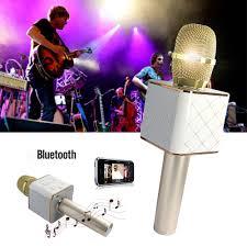 q7 q9 wireless bluetooth handheld portable karaoke mic speaker ktv
