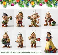 disney snow white 7 dwarfs hanging ornament set tree