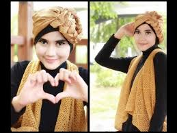 tutorial hijab turban untuk santai modern hijab tutorial turban square paris for party and casual