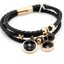 leather ladies bracelet images Leather jewelry black leather bracelet for ladies id 9623074 jpg