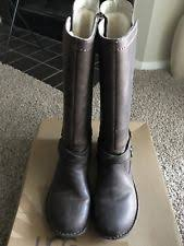 womens leather motorcycle boots australia ugg australia chancery leather motorcycle boot 6 5 ebay