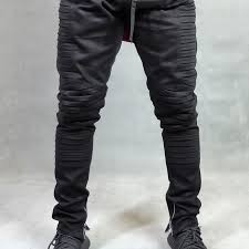 biker pants black denim biker pants skinny fits yksous