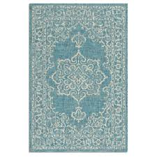 Frontgate Rugs Outdoor St Lucia Medallion Indoor Outdoor Rug Frontgate