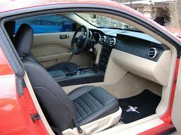 05 mustang interior i want to change my interior color from gery to blk or leather