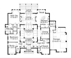 mediterranean floor plans with courtyard floor plan of italian mediterranean traditional house plan