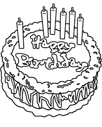 birthday cake coloring pages boys coloringstar