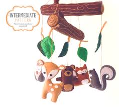 Deer Mobile For Crib Woodland Mobile Sewing Pattern Diy Woodland Nursery Mobile
