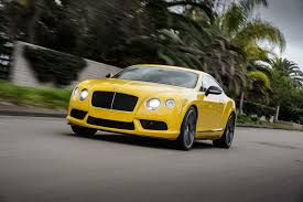 bentley yellow 2014 bentley continental gt v8 s first drive motor trend