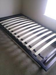 parsons twin metal ledge platform bed black walmart com