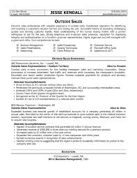 resume template sles outside sales resume template best templates