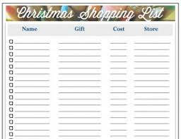 gift shopping list christmas gift list organized shopping all those detailsall