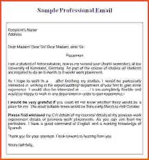 Emailing Resume For Job by Sample Professional Email Professional Email Template Sample