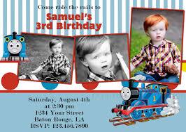 Customized Birthday Invitation Cards Custom Thomas Train Invitation Thomas Invitation Thomas