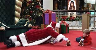 santas go to to edge out the competition in santa boom