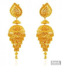 Chandelier Gold Earrings Gold Indian Chandelier Earrings Ajer59195 22k Gold Chandelier