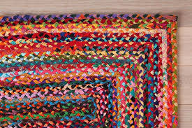 Braided Rugs How To Make Fabulous Rainbow Braided Rugs Using Old Clothing