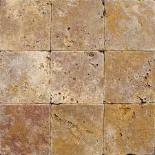 ms international gold 4 in x 4 in tumbled travertine floor and
