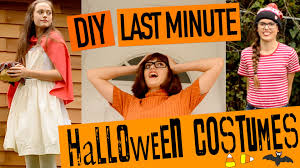 diy last minute halloween costumes 2015 youtube