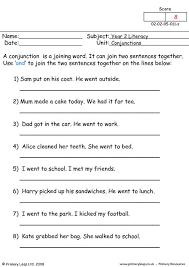 primaryleap co uk conjunctions 3 worksheet