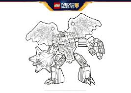 grimroc colouring page activities nexo knights lego com