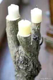 Tree Branch Candle Holder Shop Your Yard Diy Tree Stump Coasters U0026 Candleholders