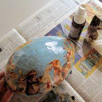 paper mache egg make our paper mache egg for easter with free vintage images and