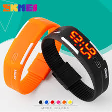 silicone bracelet watches images 2017 silicone led sports watches men women dress children jpg