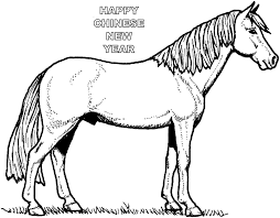 2014 wooden horse chinese new year coloring sheets free printable
