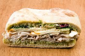 gourmet turkey gourmet turkey sandwich with muenster cheese stock image image