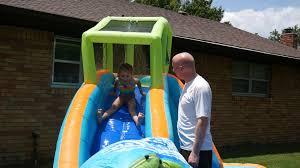 nylah u0027s new inflatable backyard waterslide youtube