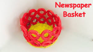diy how to make newspaper basket newspaper craft best out of