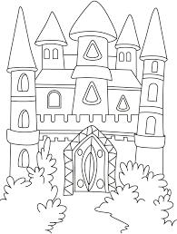 coloring castle kids coloring