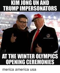 Merica Meme - kim jong un and trump impersonators republicans at the winter