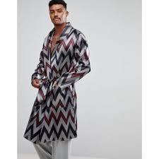 robe de chambre homme satin produit homme vêtements asos asos robe de chambre en satin à col
