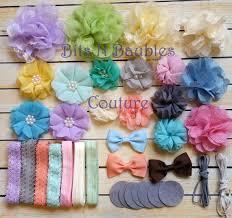 49 pcs pastel and lace headband diy headband kit baby shower