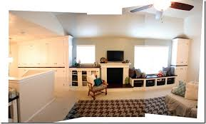 Remodelaholic Our Family Rooms Great Wall Of Builtins - Family room built ins