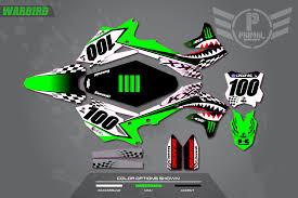 customize motocross jersey kawasaki primal x motorsports motocross graphics atv