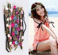 hair bands for women women handmade floral leaves hair band flower headband crown