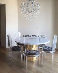 Clear Acrylic Dining Chair Appealing Clear Perspex Dining Chairs 74 In Best Design Interior