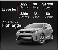 toyota highlander 2017 black lease specials toyota highlander san antonio red mccombs