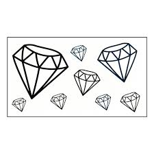 waterproof temporary tattoo sticker diamond tattoo cartoon water