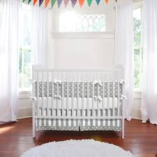 White Crib Bedding Gray And White Dots And Stripes Crib Bedding Neutral Baby