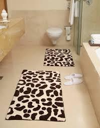 Leopard Bathroom Rugs Animal Skin Bath Rug Leopard Pattern Chesapeake Merchandising