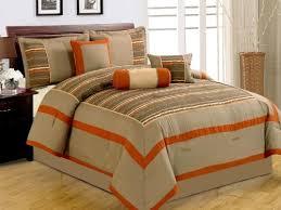 Orange Comforter Brown And Orange Bedding Churchill Queen Rust And Brown Piece