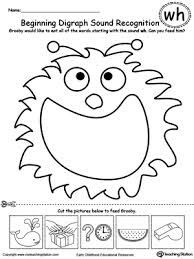 beginning digraph sound recognition wh teaching worksheets and