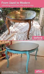 Painted Kitchen Table And Chairs by 58 Best Redoing My 1968 Thomasville Dinette Set Images On