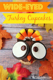 simple thanksgiving turkey recipe wide eyed turkey cupcakes