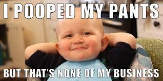 Viral Meme - baby looks so smug while pooping is going viral on imgur smug